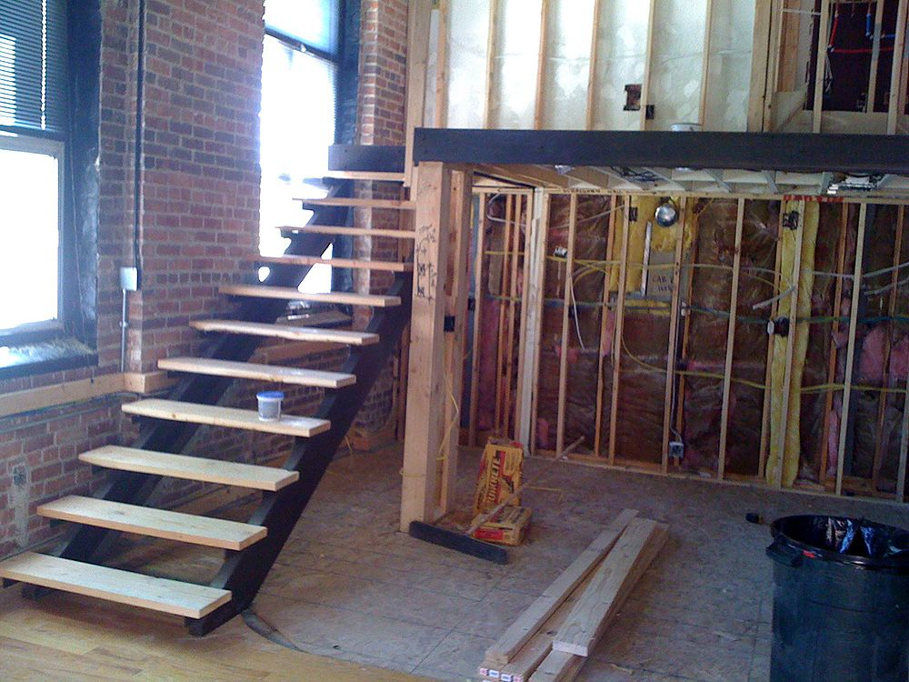 Best Pink Fog Studio Stairs – Open Riser Steel Stair With Oak 640 x 480
