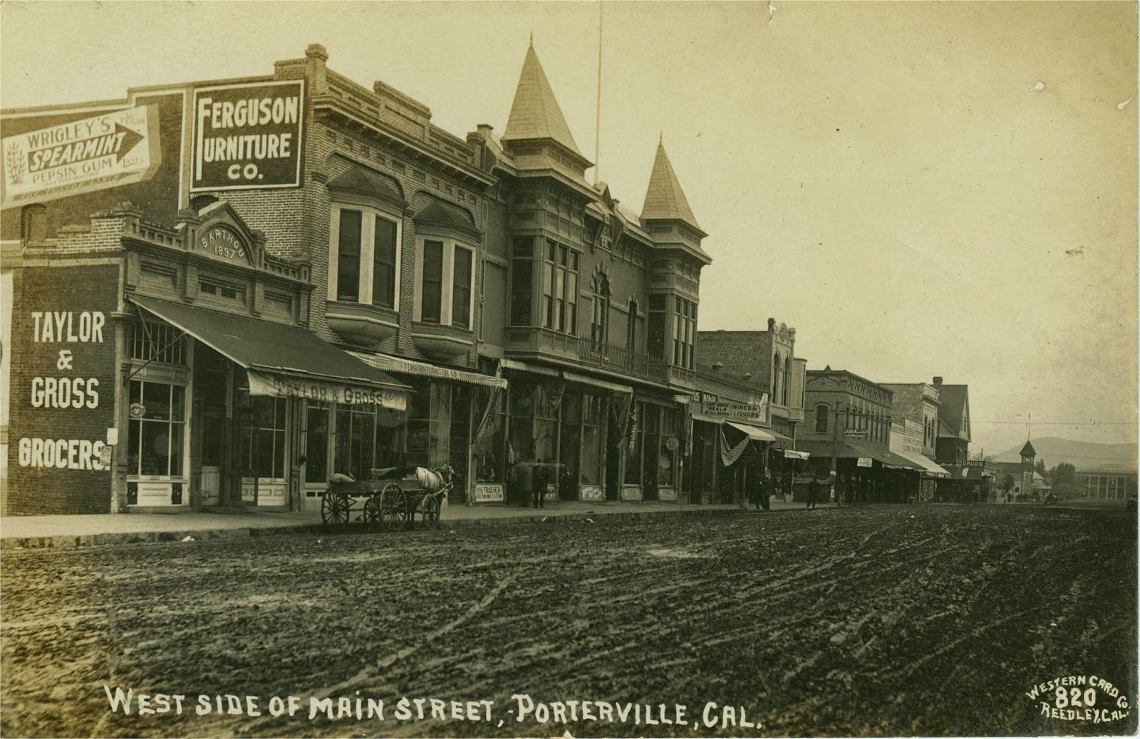 Main Street Porterville Ca Circa It Ears That This Photo Was Taken Looking North On St Between Oak And Mill Avenues