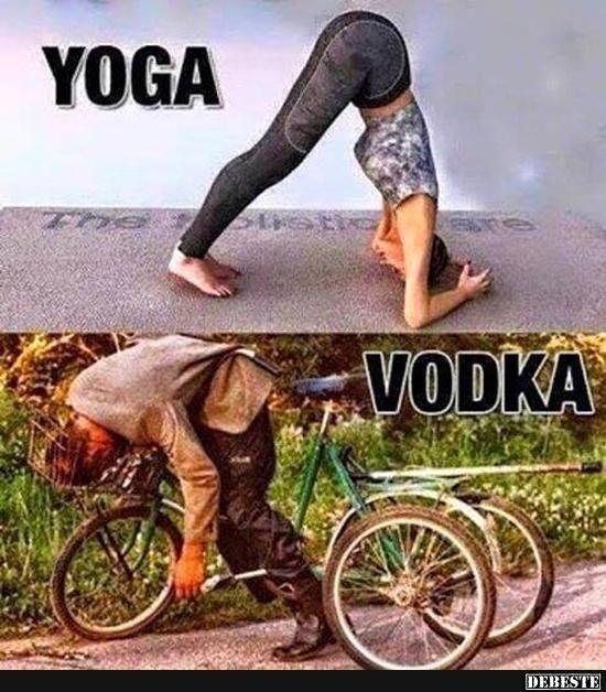 Yoga Vodka Lustige Bilder Spruche Witze Echt Lustig Witzig