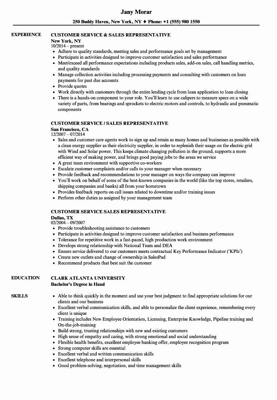 25 Customer Service Sales Resume in 2020 Sales resume