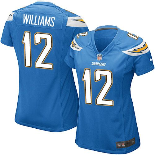 women s nike los angeles chargers 12 mike williams game electric rh pinterest com