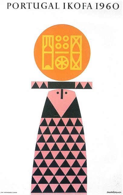 "Sebastião Rodrigues - Poster ""Portugal Ikofa"". 1960."