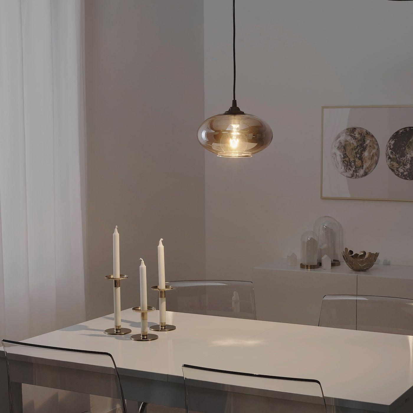 3er Set LED Retro Hänge Lampen champagner gold Filament Decken Leuchten dimmbar