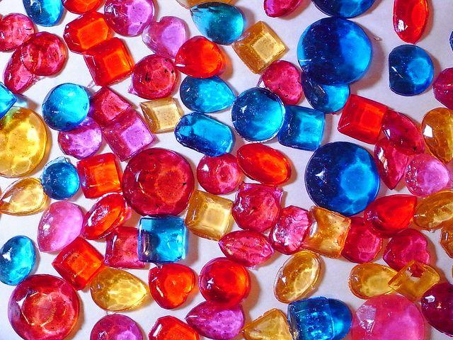 "Jewel Gem 1/"" Shape Assortment Chocolate Candy Mold Diamond Treasure small"
