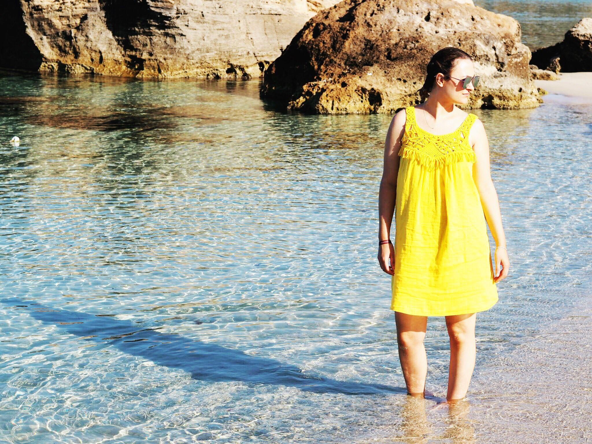 Yellow Beach Dress in Ibiza | Yellow Dress | Beach Dress | Ibiza ...