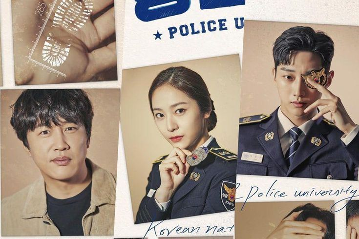 """New Drama """"Police University"""" Opens The File On Cha Tae Hyun, Jinyoung, Krystal, And More In Poster"""