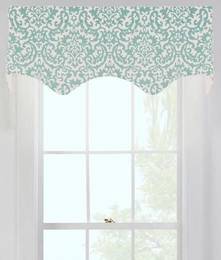Woodblock Lined Scalloped Valance $59.95