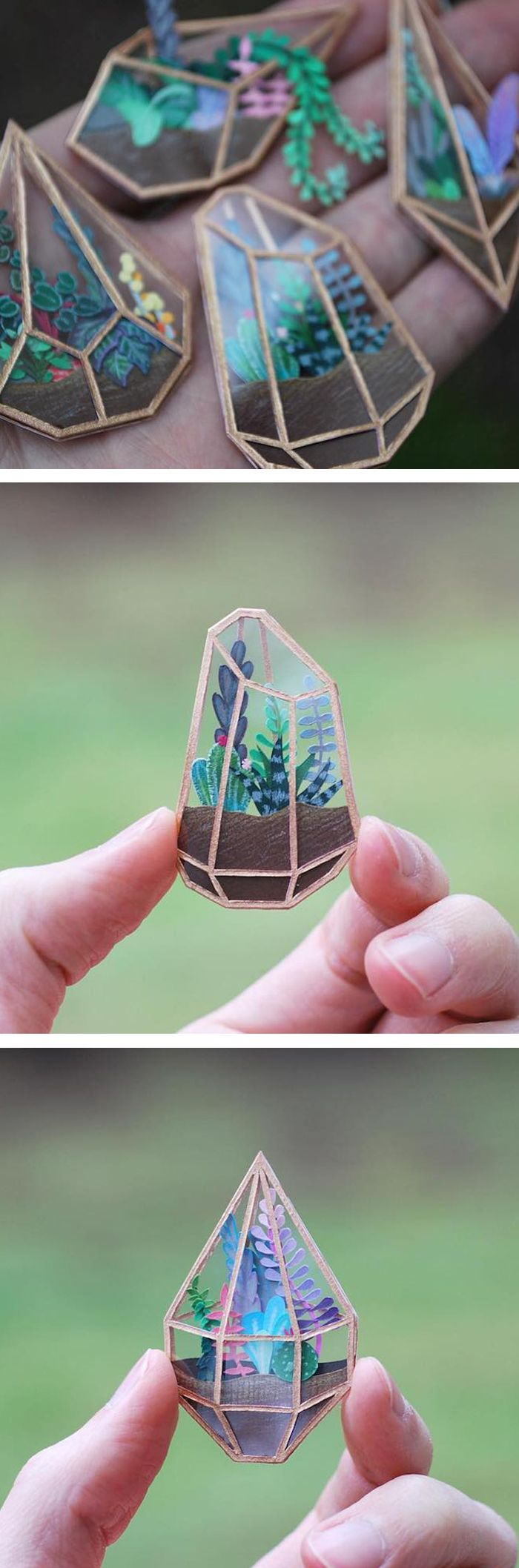 Cameron Garlandus Tiny Terrariums You Can Hold on Your Fingertip