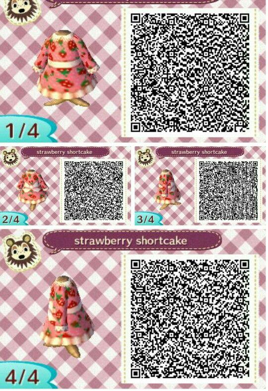 Strawberry Shortcake Animal Crossing Animal Crossing Qr Animal Crossing Qr Codes Clothes