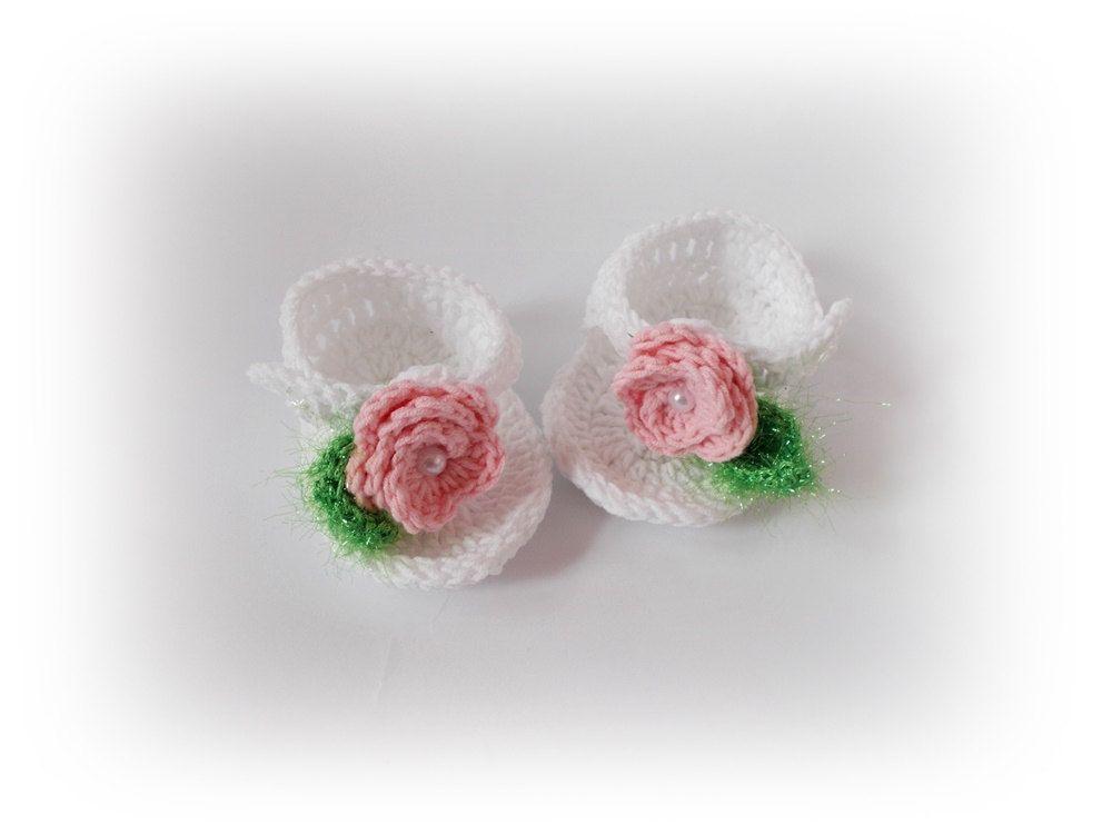 446c8c9a6b1c5 White Flip Flops Baby flip flops pink flower Baby Sandals white ...