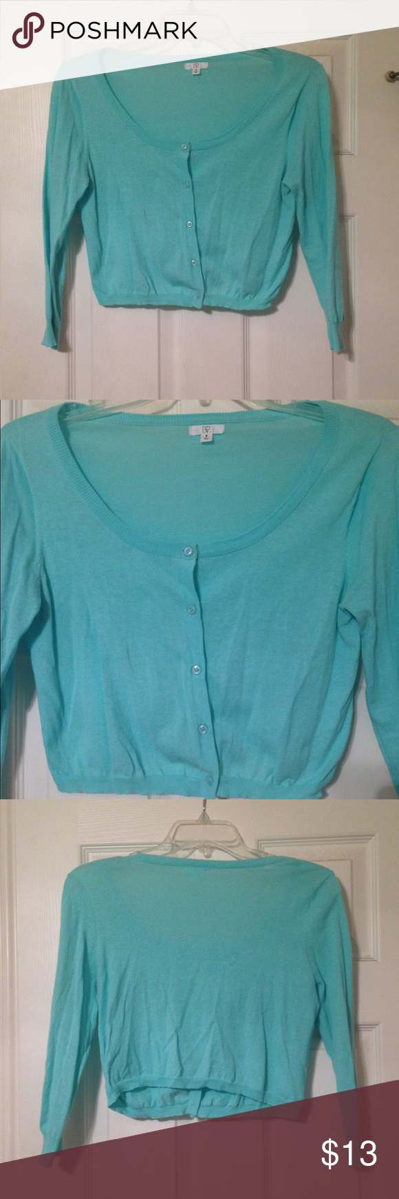 BP Nordstrom Mint Cropped Cardigan Medium Beautiful mint cropped cardigan from the BP brand at Nordstrom. Size: Medium. Nordstrom Sweaters Cardigans
