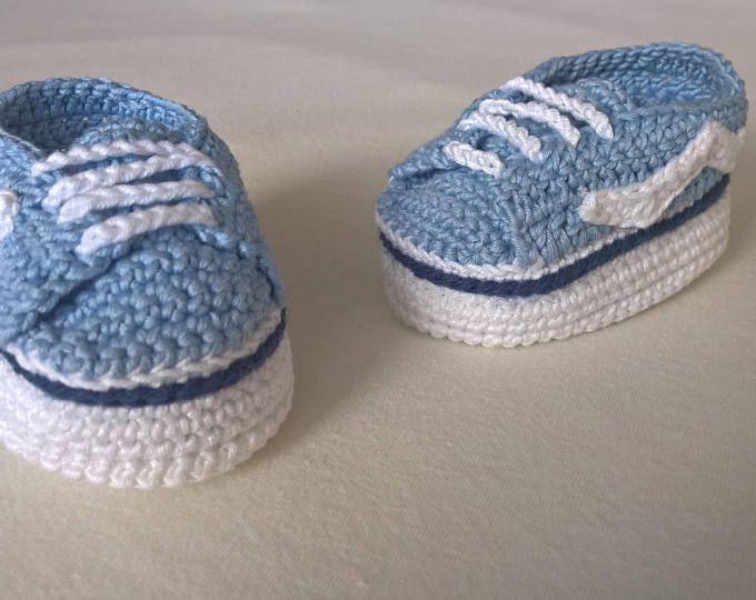 3d0ae56eea7007 Crochet PATTERN Vans baby sneakers. Baby sneakers vans style. Baby booties  pattern. Baby shoes crochet pattern. INSTANT DOWNLOAD