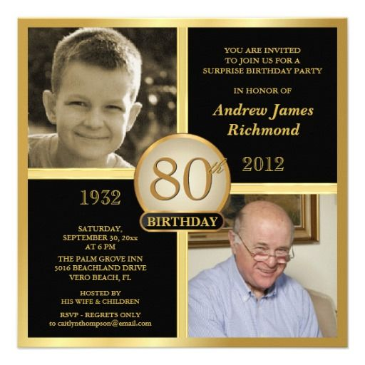 Nice Free Printable 80th Birthday Invitations