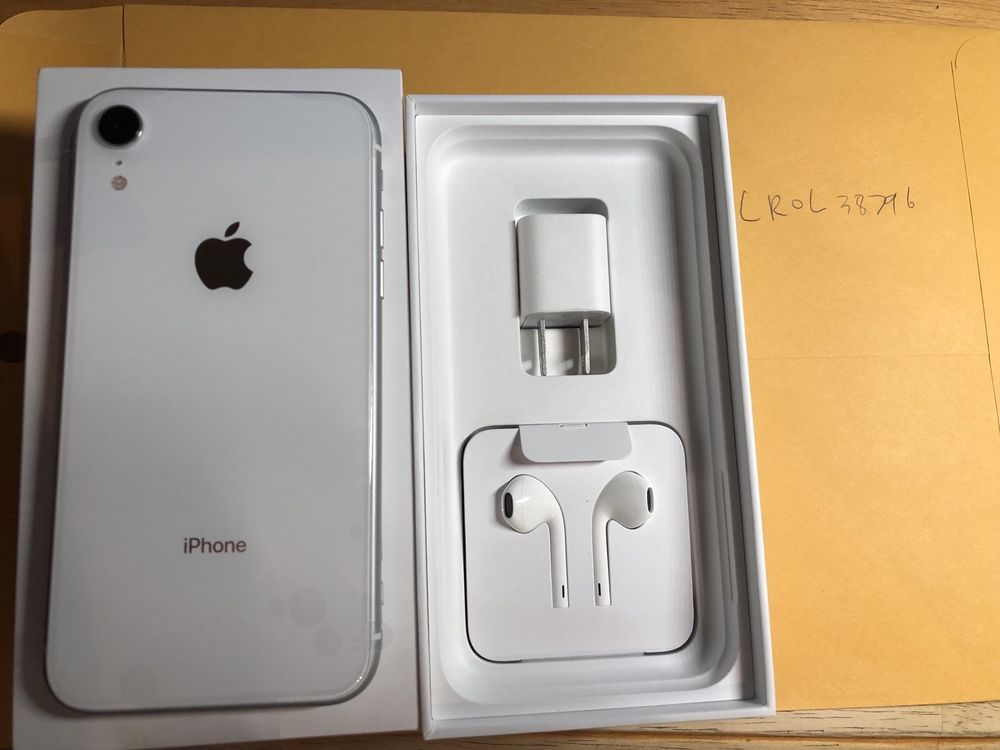 Apple Iphone Xr 64gb White Vzw Unlocked A1984 Cdma Gsm 1 Year Warranty Apple Iphone Apple Phone Case