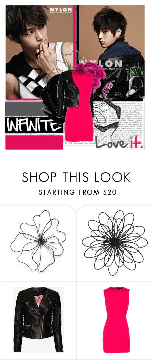 """INFINITE´s L"" by tanyahantak ❤ liked on Polyvore featuring Universal Lighting and Decor, Barbara Bui, Dsquared2 and Gianmarco Lorenzi"