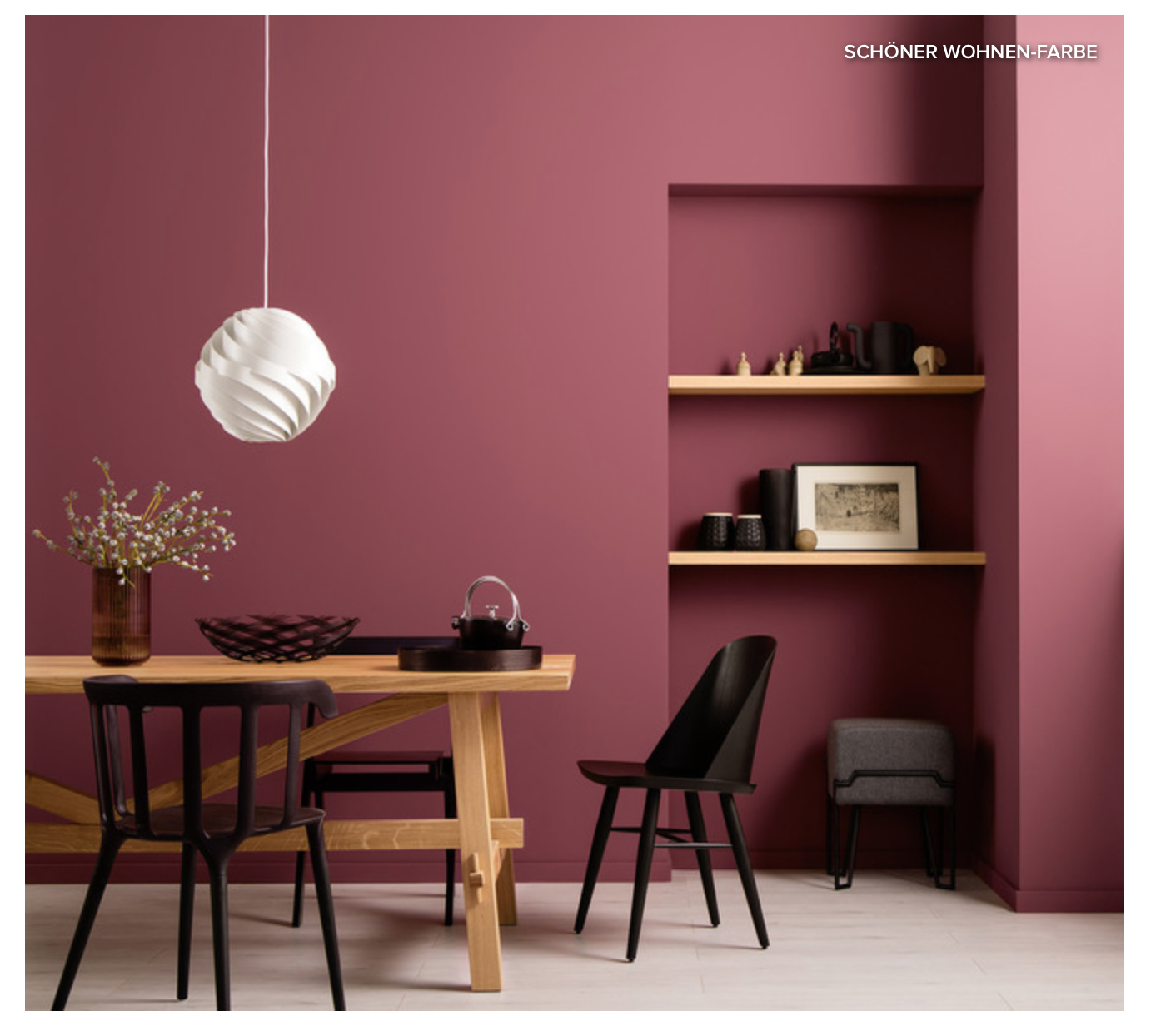 Etonnant Article From Houzz About The Colors To Paint Every Room: Maroon/Pink For  Living