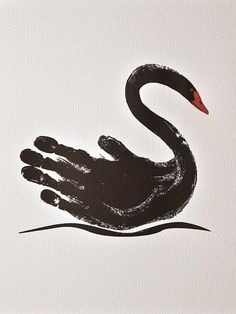 Letter S Is For Swan Hand Print Craft