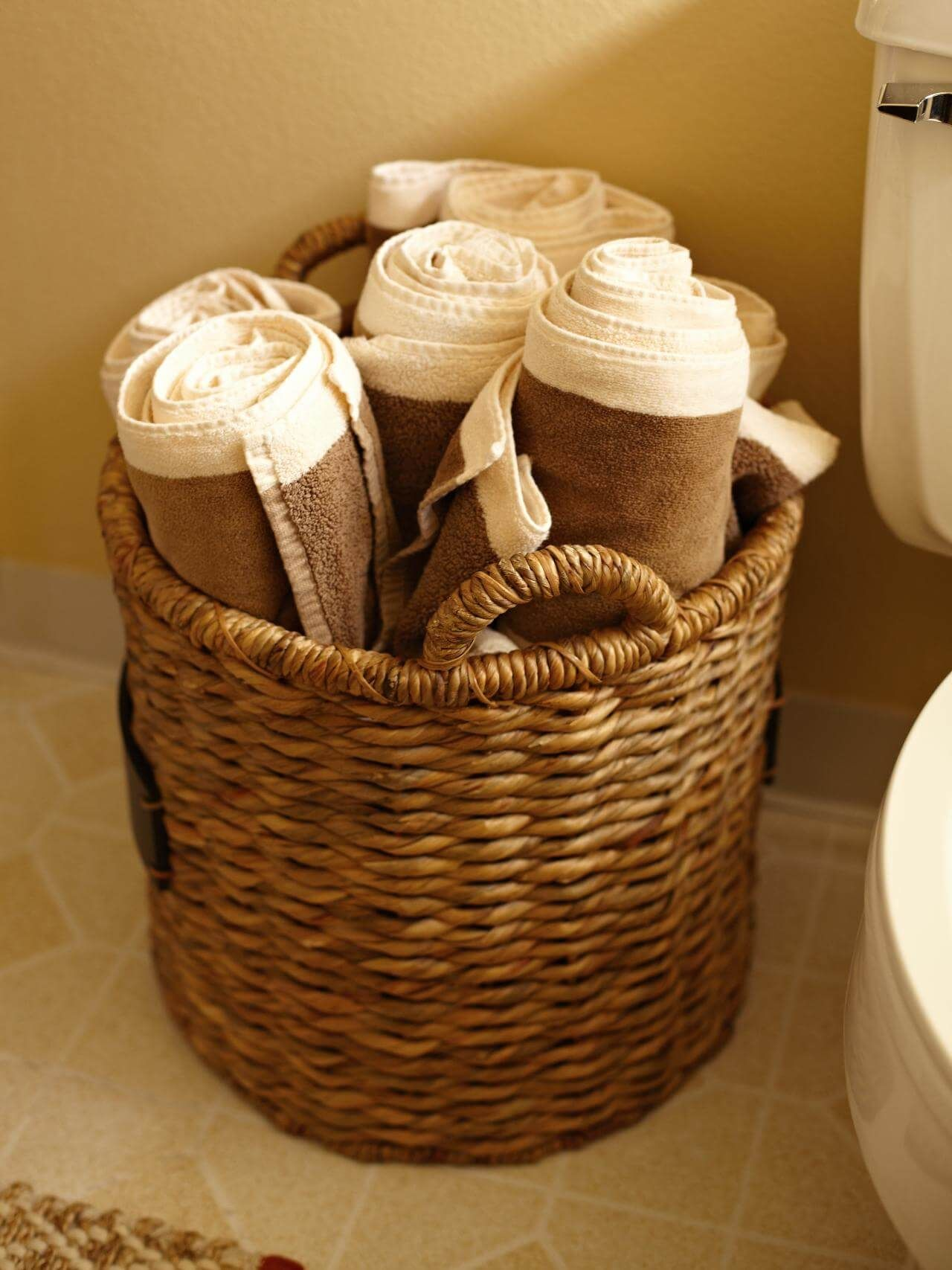 34 space-saving towel storage ideas for your bathroom | towels