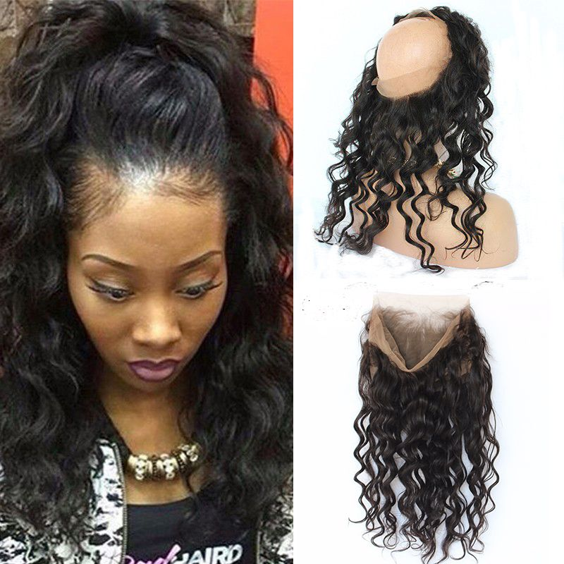 360 Lace Frontal Closure 7A Brazilian Loose Wave Curly Pre ...