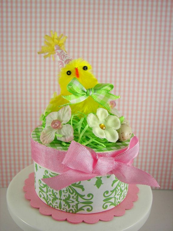 Adorable Vintage Style Easter Box by SparkleLovesWhimsey on Etsy, $15.00