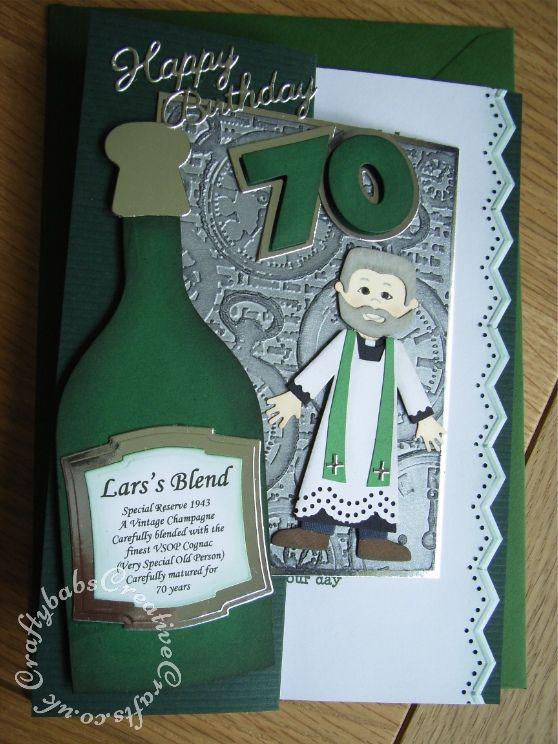 Mens Birthday Card Vicar 70th Craftybabscreativecrafts