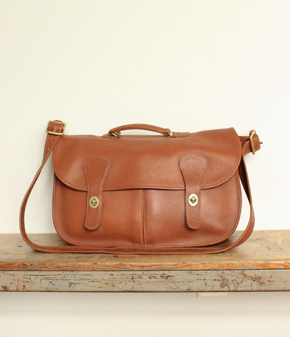a5230318ca Vintage Coach Musette Bag // Carrier Bag // Messenger Briefcase ...