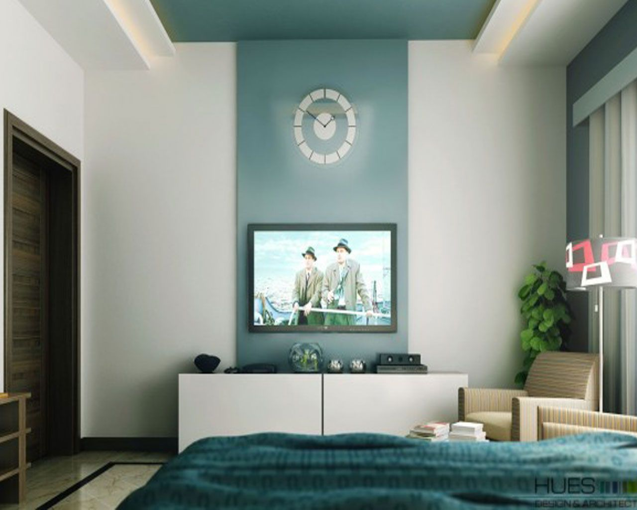 Feature wall painting ideas google search painting Living room feature wallpaper ideas