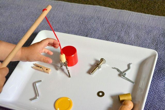 experiment magnetische dinge experimente mit strom magneten pinterest dinge spielideen. Black Bedroom Furniture Sets. Home Design Ideas