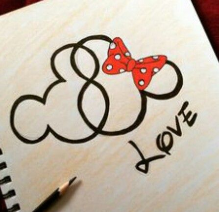Cute Drawings Of Love Easy Disney Fun Mickey Stuff Pixar Mouse Photo Charms