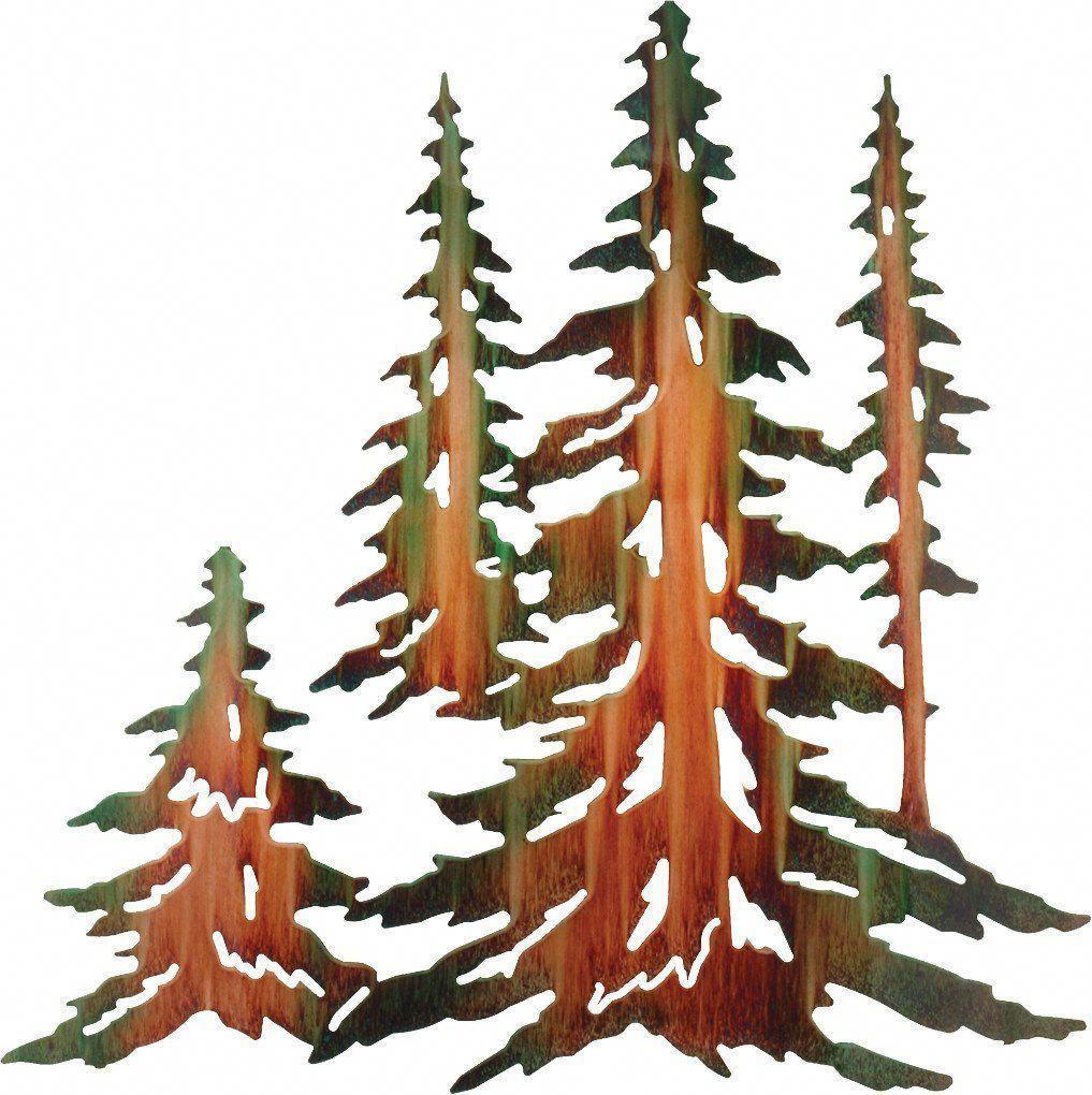 Pine Tree Forest Metal Wall Art Metaltreeartwall Metal Tree