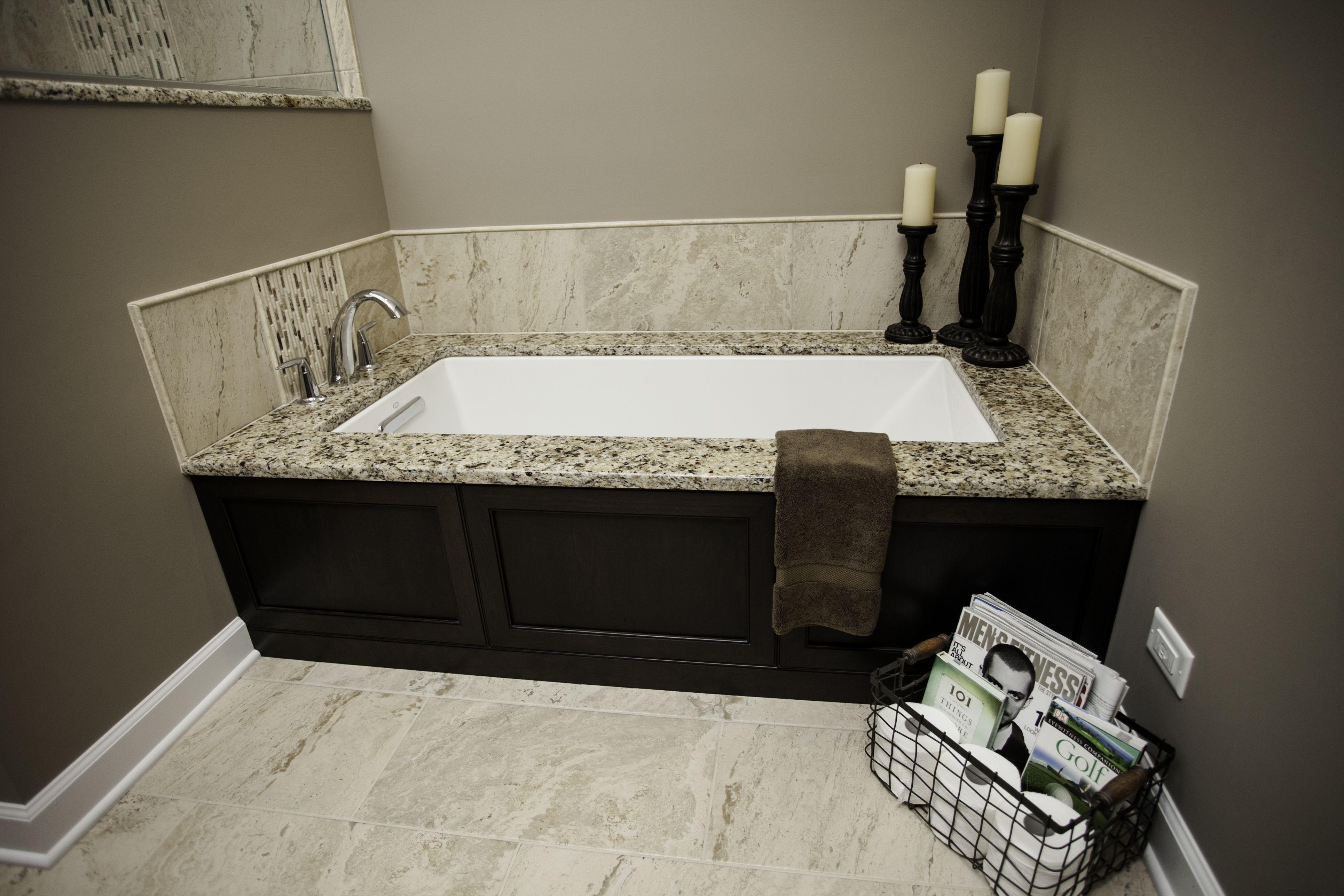 Bath Masters Naperville modernized master in naperville: undermount tub with matching