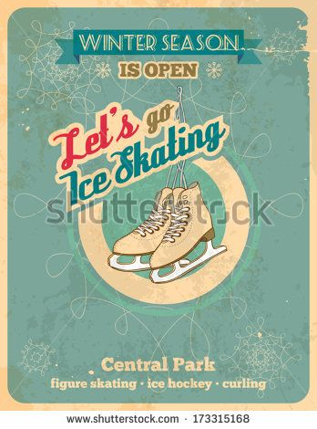 Retro Ice Skates Stock Photos, Royalty-Free Images & Vectors ...