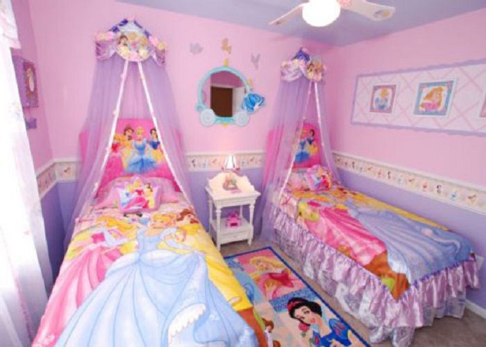 like the paint half purple half pink separated by wallpaper  Twin Girl  BedroomsGirls ...