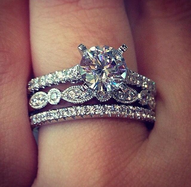 I M In Love Stacked Wedding Rings Diamond Wedding Rings Sets