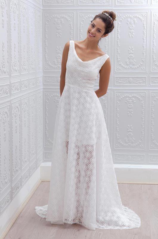 Elisa long wedding dress
