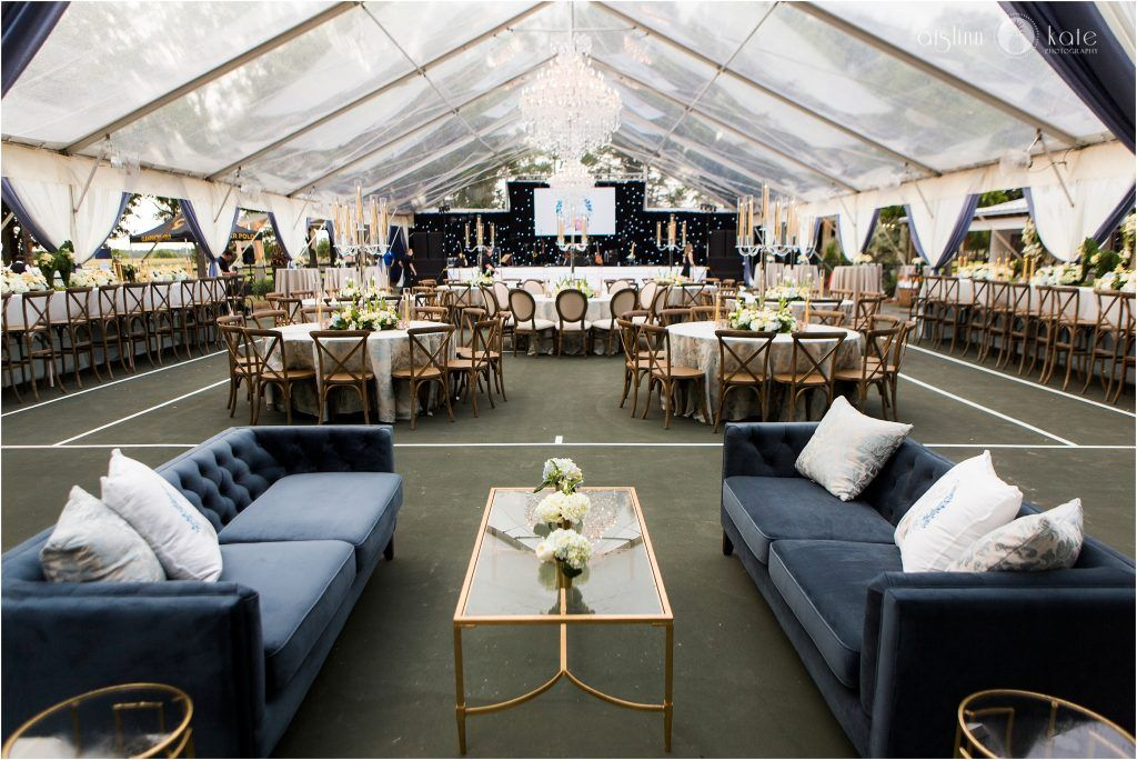 A beautiful reception set up with a few of our furniture pieces