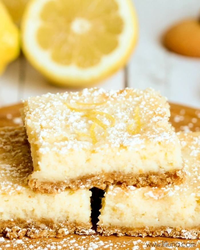 Lemon Squares with Vanilla Wafer Crust