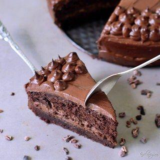 Zucchini-Schokoladenkuchen Rezept | vegan, glutenfrei, ölfrei - Elavegan #kartoffeleckenbackofen