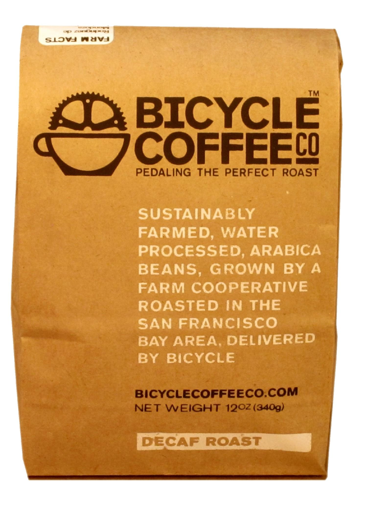 Bicycle coffee decaf. Delicious without the shakes.