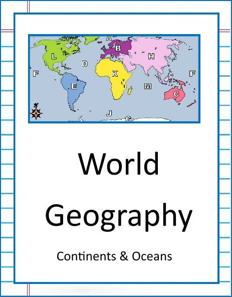 NEW DOWNLOAD: WORLD GEOGRAPHY - CONTINENTS & OCEANS. Download this ...