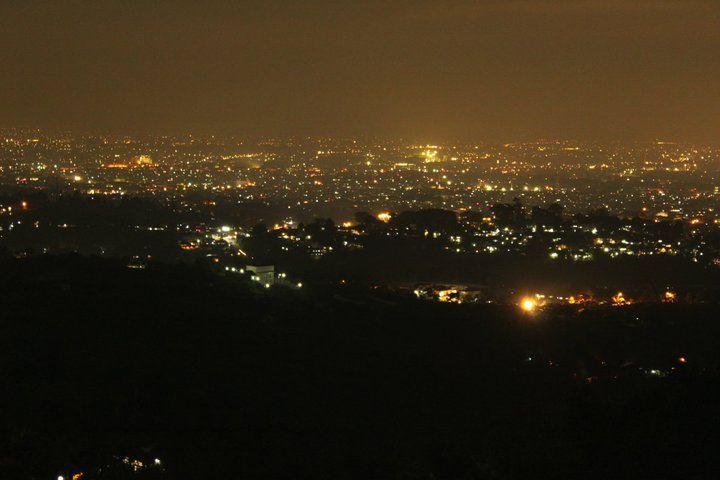 Bandung Tampak Dari Punclut Malam Pemandangan Alam