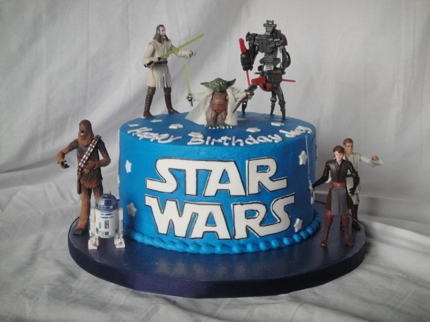 Simple 8 Star Wars themed cake This 5yearold knew what he