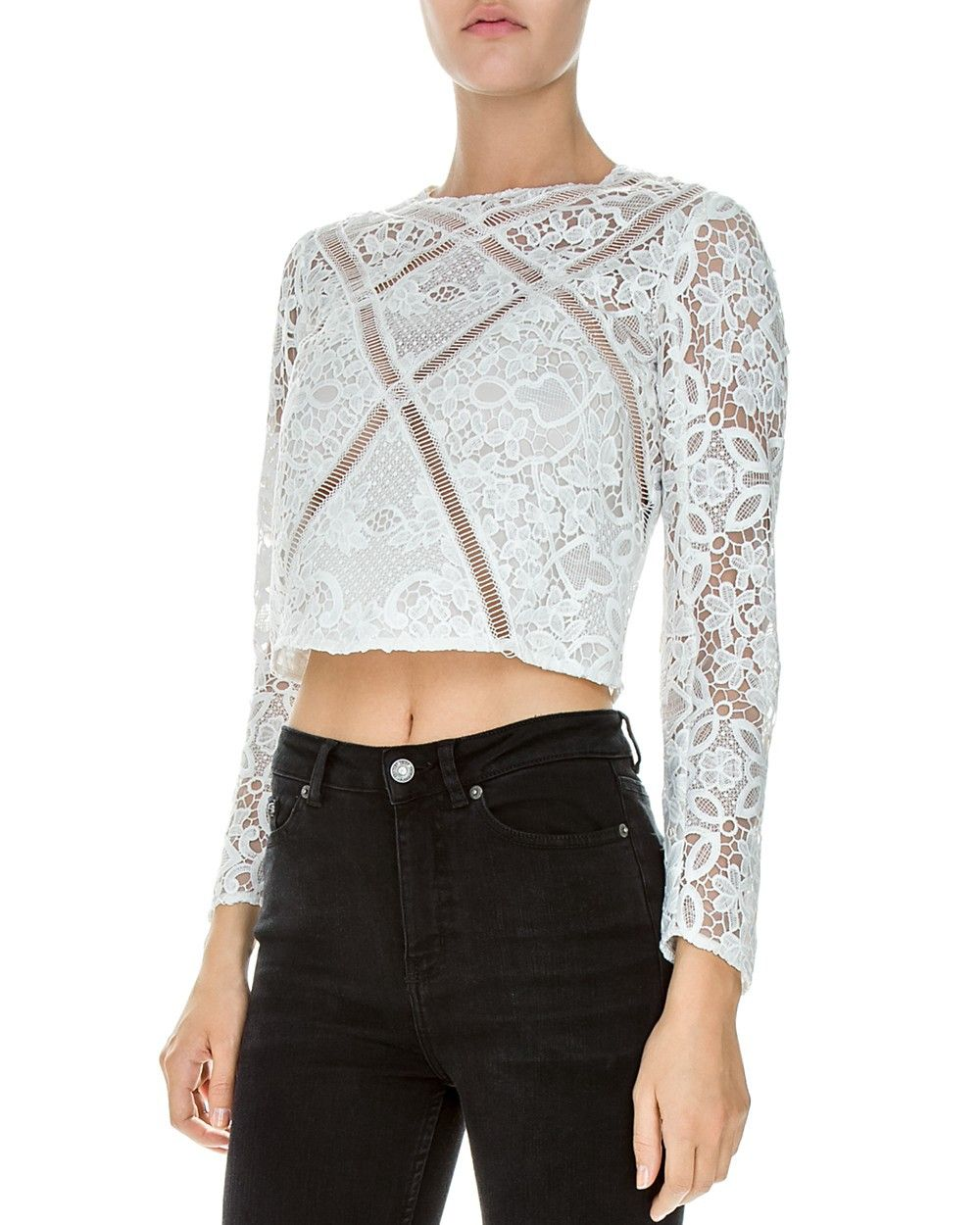 39fb69128a THE KOOPLES The Kooples Botanique Lace Top. #thekooples #cloth ...