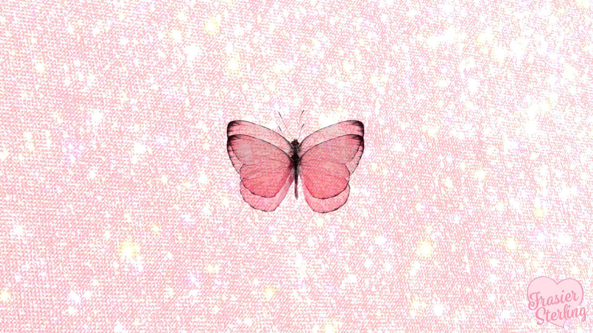 Pink Butterfly Aesthetic Laptop Wallpaper Novocom Top Butterfly on orange flower wallpaper. pink butterfly aesthetic laptop
