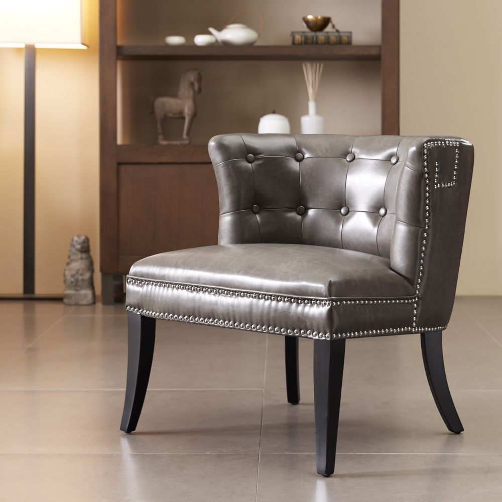 Bianca Taupe Accent Chair  Overstock™ Shopping  Great Deals On Prepossessing Overstock Living Room Chairs Decorating Design