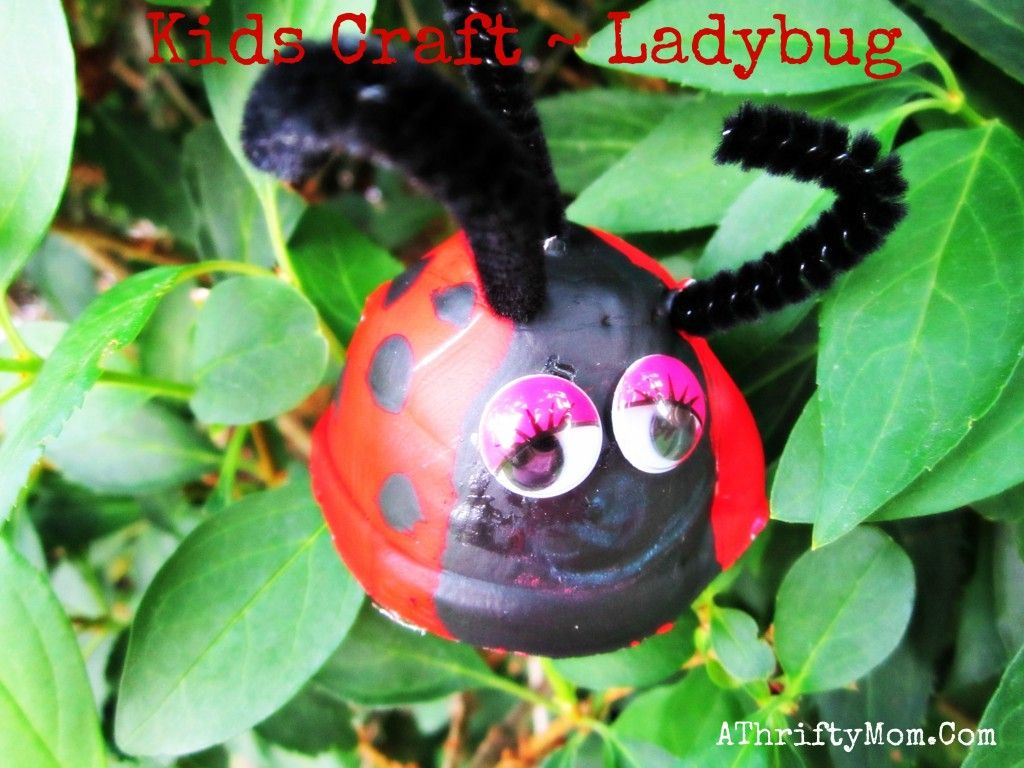 KIDS CRAFTS ~ LADYBUGS MADE OUT OF AN EGG CARTON