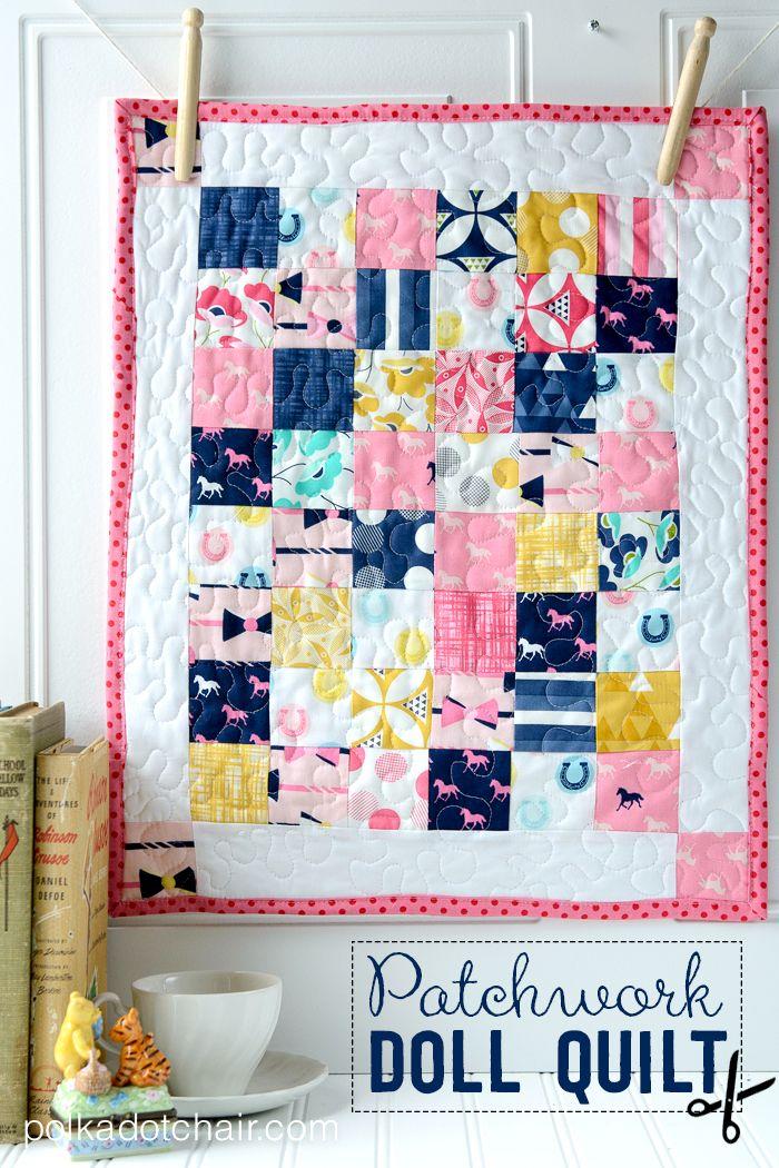 Patchwork Doll Quilt Tutorial Found On Polkadot Chair Blog Doll Quilt Mini Quilt Patterns Baby Quilt Tutorials