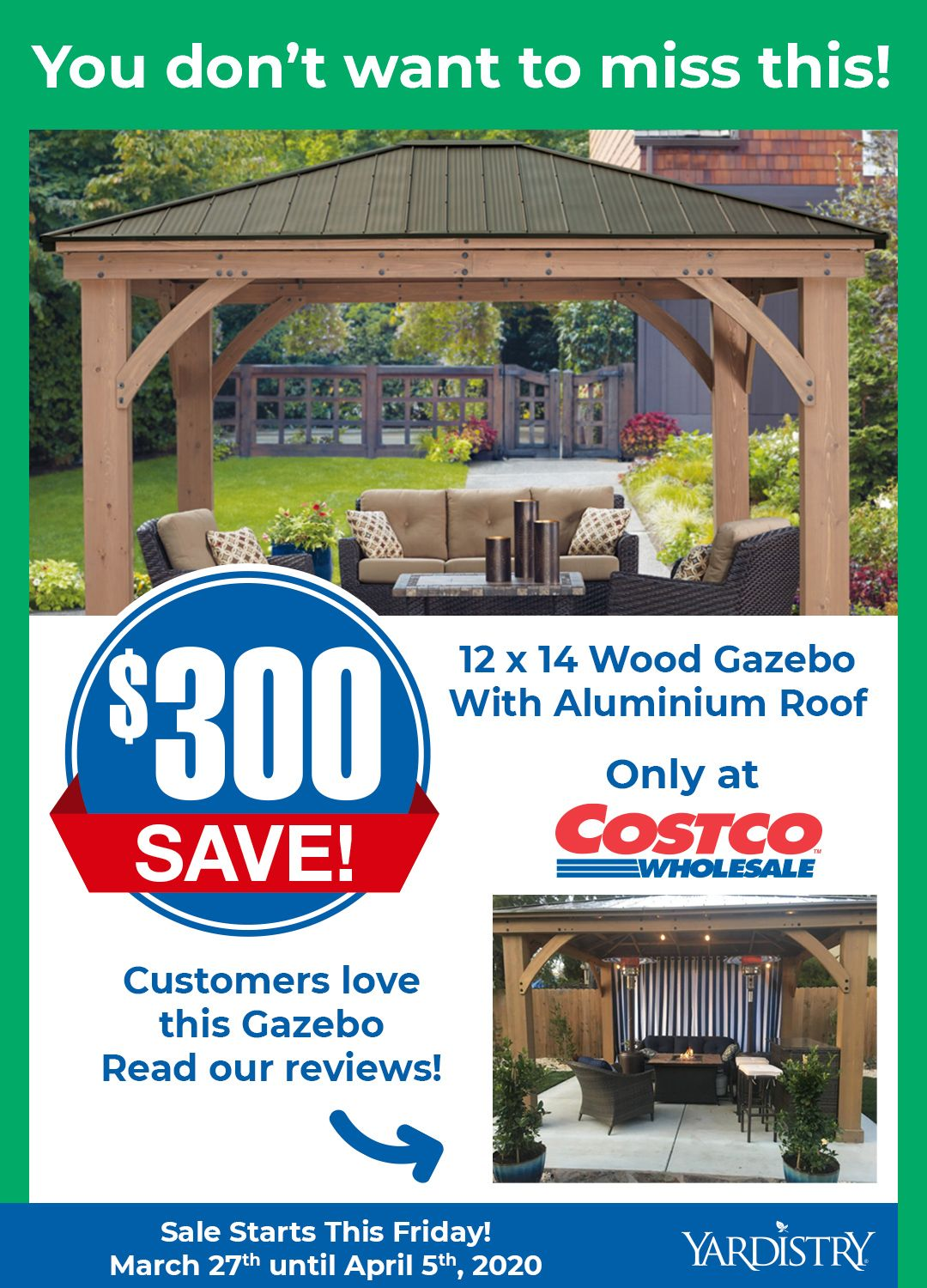 300 Off The 12 X 14 Wood Gazebo In 2020 Aluminum Roof Gazebo Covered Patio Design