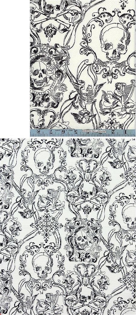 Skully fabric for the aesthetically inclined! | Pattern | Pinterest