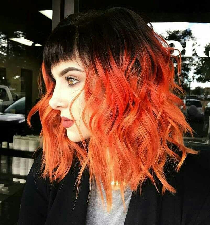 P I N T E R E S T I I I A N N A I I I Fashion Hair Hair Color Orange Hair Black Hair Hair Color Orange Hair Styles Wavey Hair
